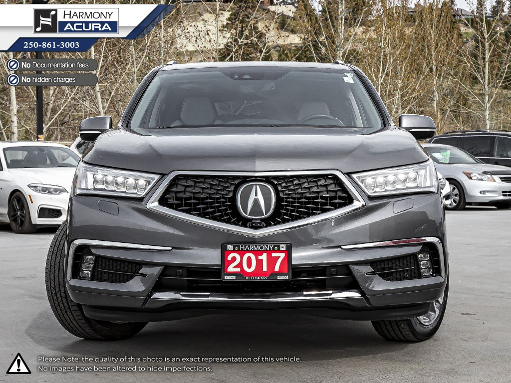 Grey 2017 Acura MDX Left Front Interior Photo in Kelowna BC