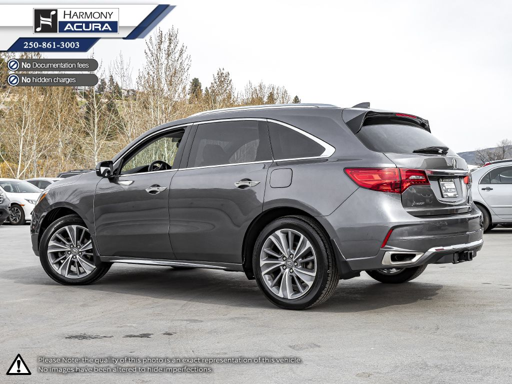 Grey 2017 Acura MDX Left Side Rear Seat  Photo in Kelowna BC