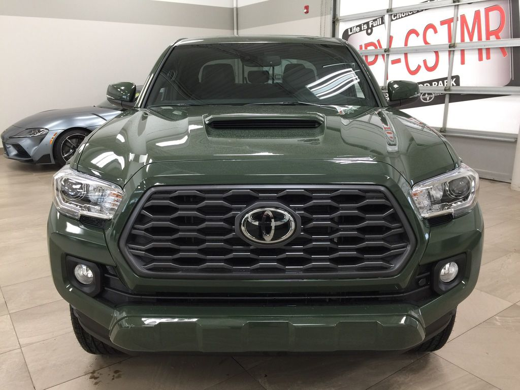 Green[Army Green] 2021 Toyota Tacoma TRD Sport Premium Front Vehicle Photo in Sherwood Park AB