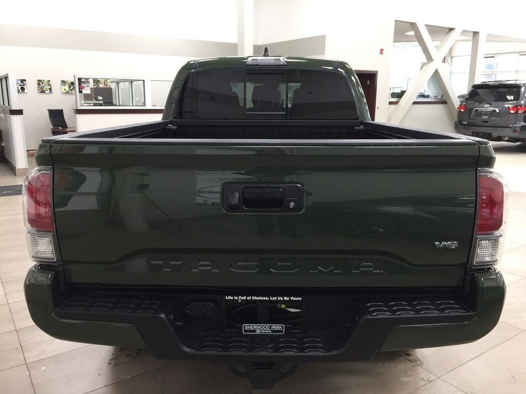 Green[Army Green] 2021 Toyota Tacoma TRD Sport Premium Rear of Vehicle Photo in Sherwood Park AB