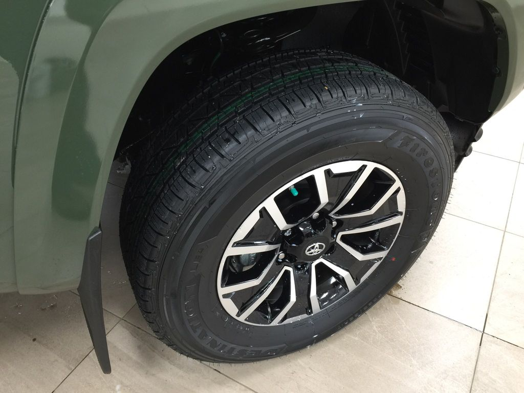 Green[Army Green] 2021 Toyota Tacoma TRD Sport Premium Right Front Rim and Tire Photo in Sherwood Park AB