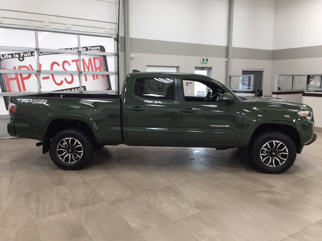 Green[Army Green] 2021 Toyota Tacoma TRD Sport Premium Right Side Photo in Sherwood Park AB