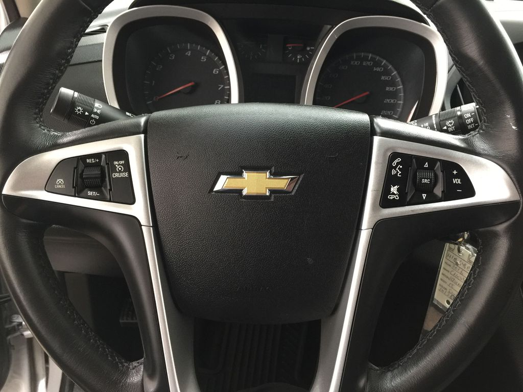 Silver[Silver Ice Metallic] 2016 Chevrolet Equinox LT AWD Steering Wheel and Dash Photo in Sherwood Park AB