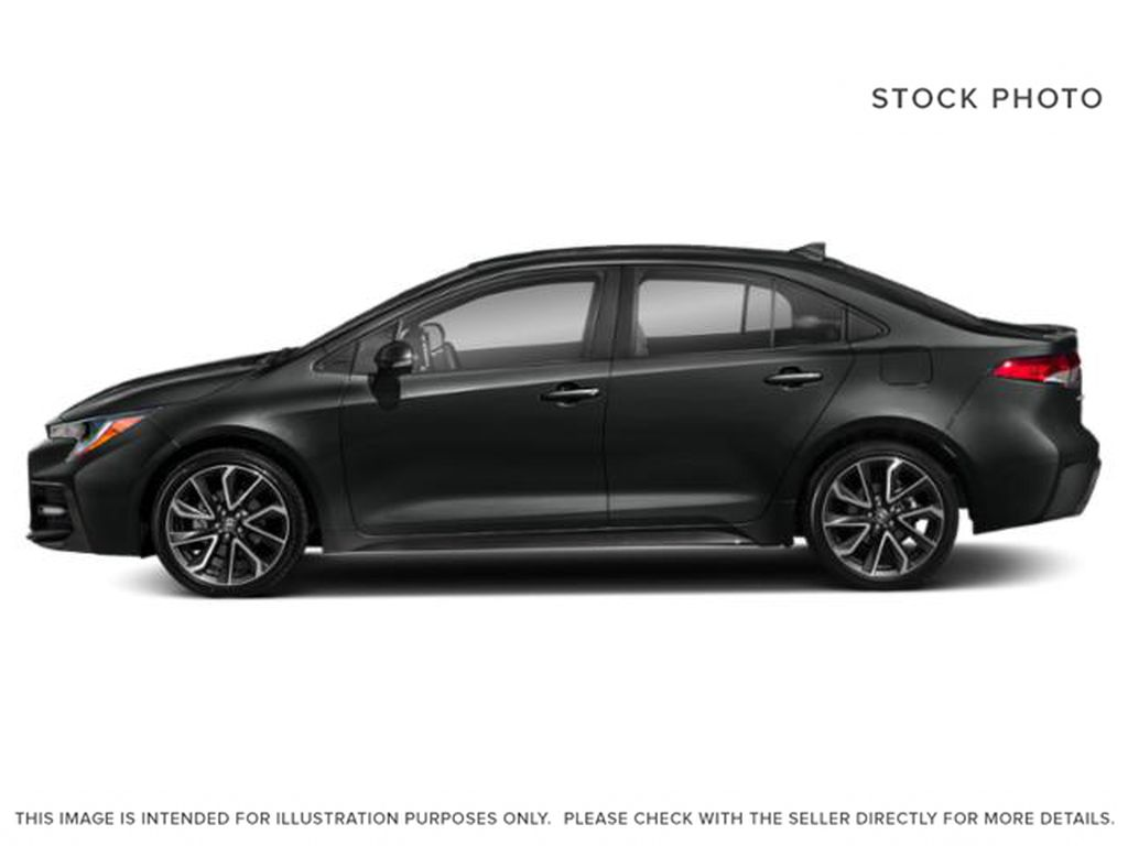 Black[Black Sand Pearl] 2021 Toyota Corolla Left Front Rim and Tire Photo in Brockville ON