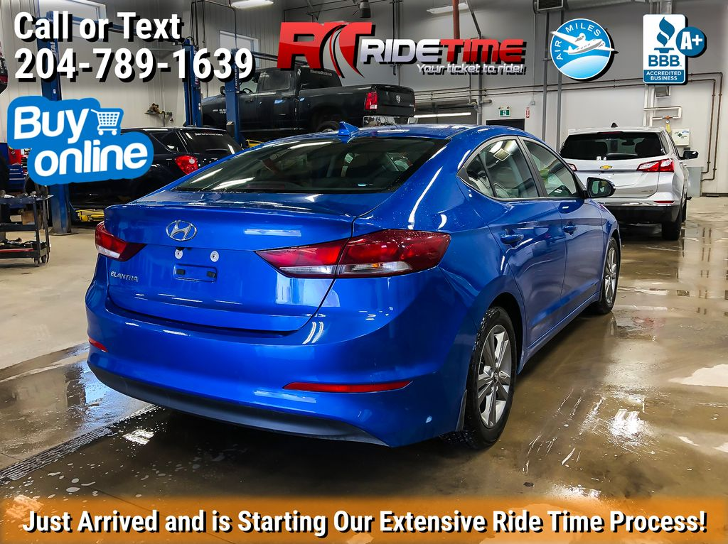 Blue[Marina Blue Metallic] 2017 Hyundai Elantra GL - Apple CarPlay / Android Auto, Bluetooth Left Rear Corner Photo in Winnipeg MB
