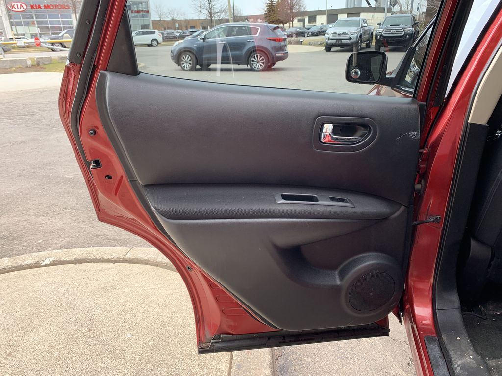 Red[Ignition Red Pearl] 2011 Nissan Rogue Left Side Rear Seat  Photo in Brampton ON