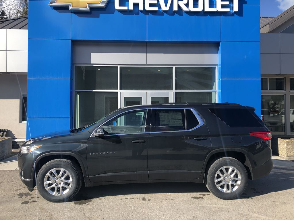 Gray[Graphite Metallic] 2021 Chevrolet Traverse LT Left Side Photo in Canmore AB