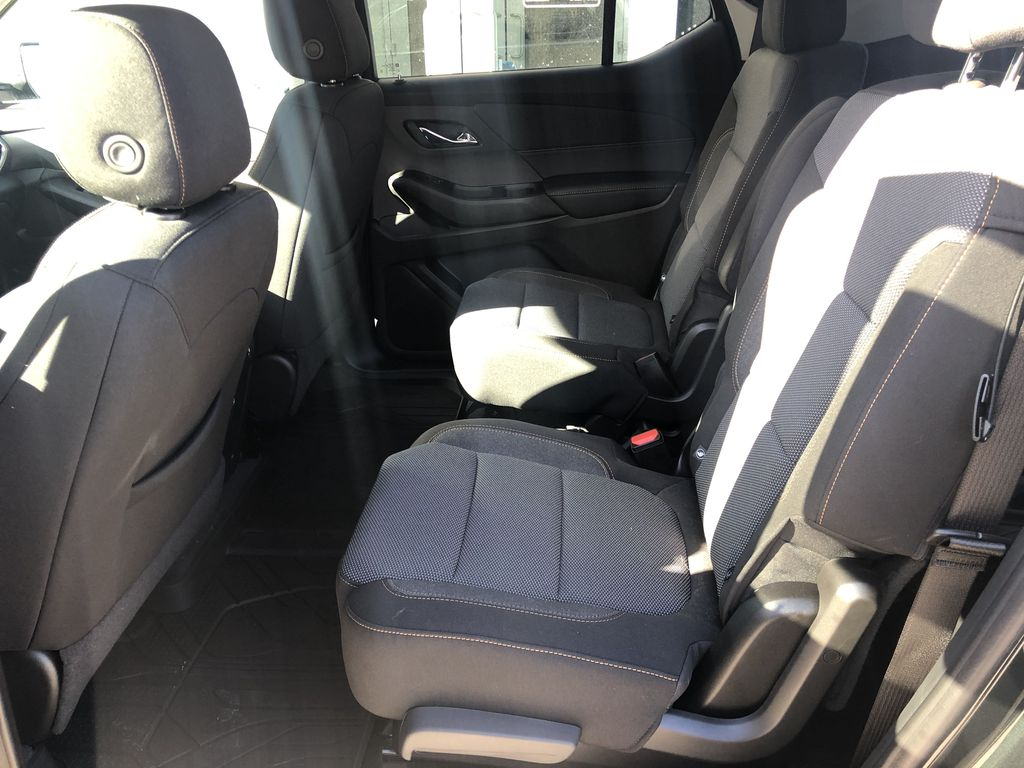 Gray[Graphite Metallic] 2021 Chevrolet Traverse LT Left Side Rear Seat  Photo in Canmore AB