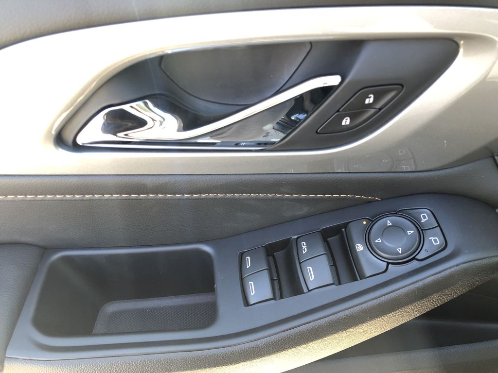 Gray[Graphite Metallic] 2021 Chevrolet Traverse LT  Driver's Side Door Controls Photo in Canmore AB