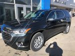 Gray[Graphite Metallic] 2021 Chevrolet Traverse LT Left Front Corner Photo in Canmore AB