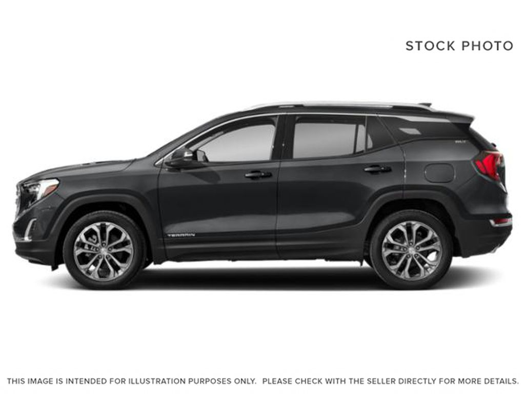 Gray[Graphite Grey Metallic] 2021 GMC Terrain SLE Elevation Left Side Photo in Canmore AB