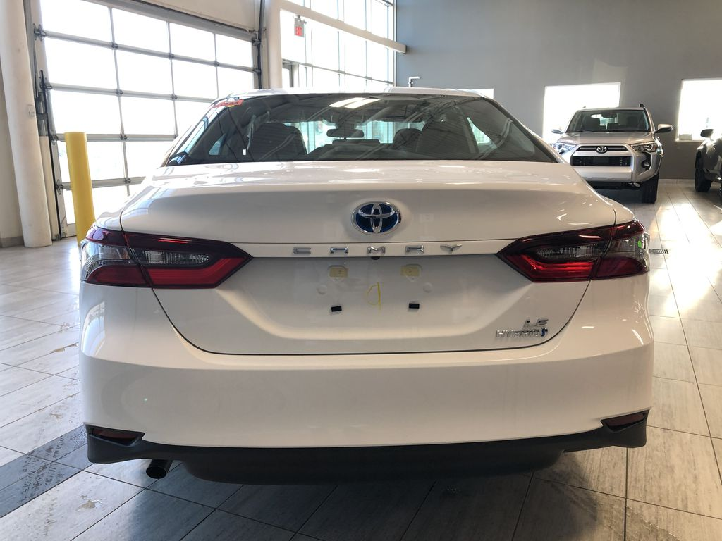 Super White 2021 Toyota Camry Hybrid LE Trunk / Cargo Area Photo in Edmonton AB