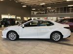Super White 2021 Toyota Camry Hybrid LE Left Side Photo in Edmonton AB