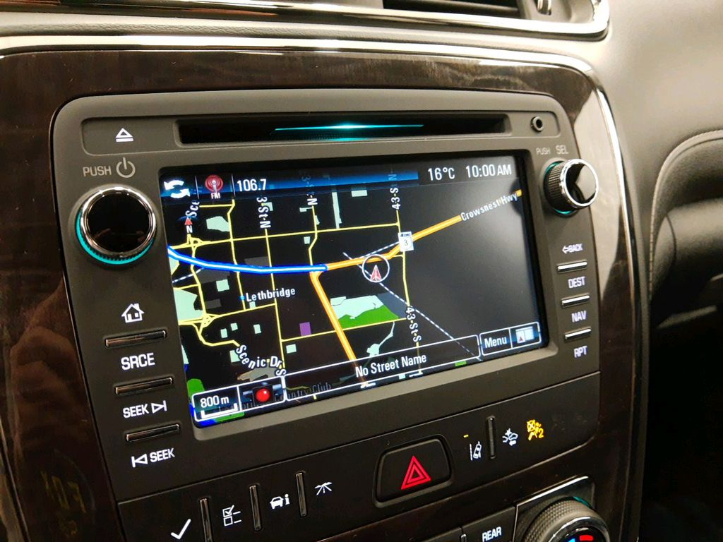 Red 2017 Buick Enclave Steering Wheel and Dash Photo in Lethbridge AB