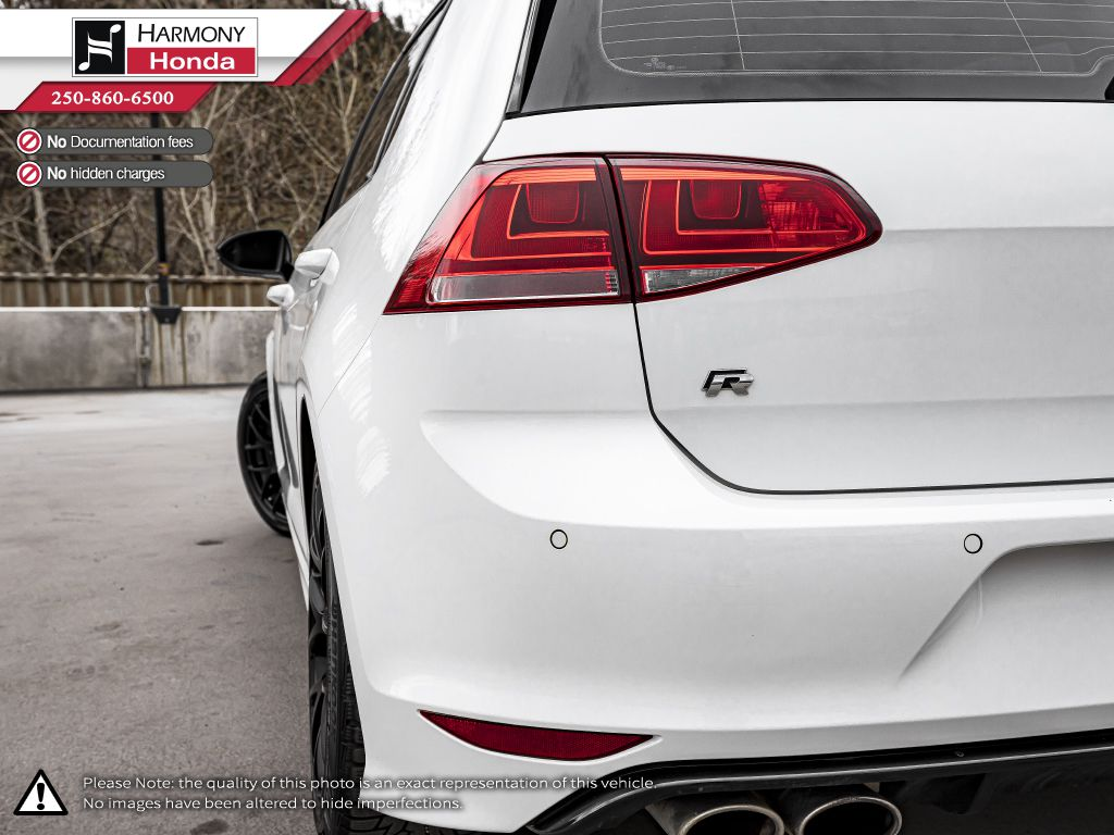 White - Oryx White Pearl 2016 Volkswagen Golf R Third Row Seat or Additional  Photo in Kelowna BC