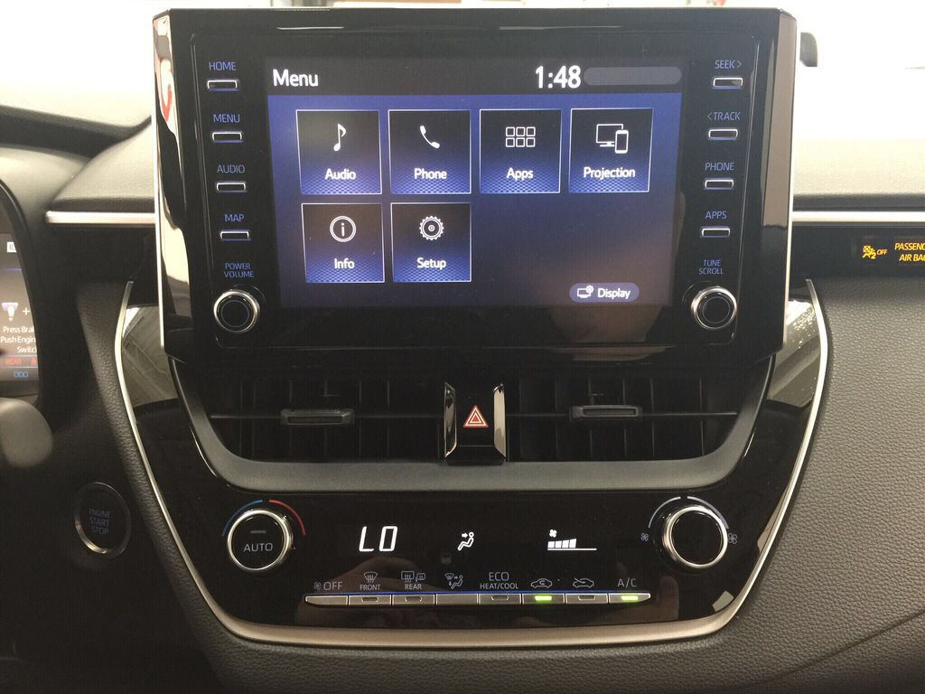 Gray[Celestite] 2021 Toyota Corolla LE Upgrade Infotainment Closeup Photo in Sherwood Park AB