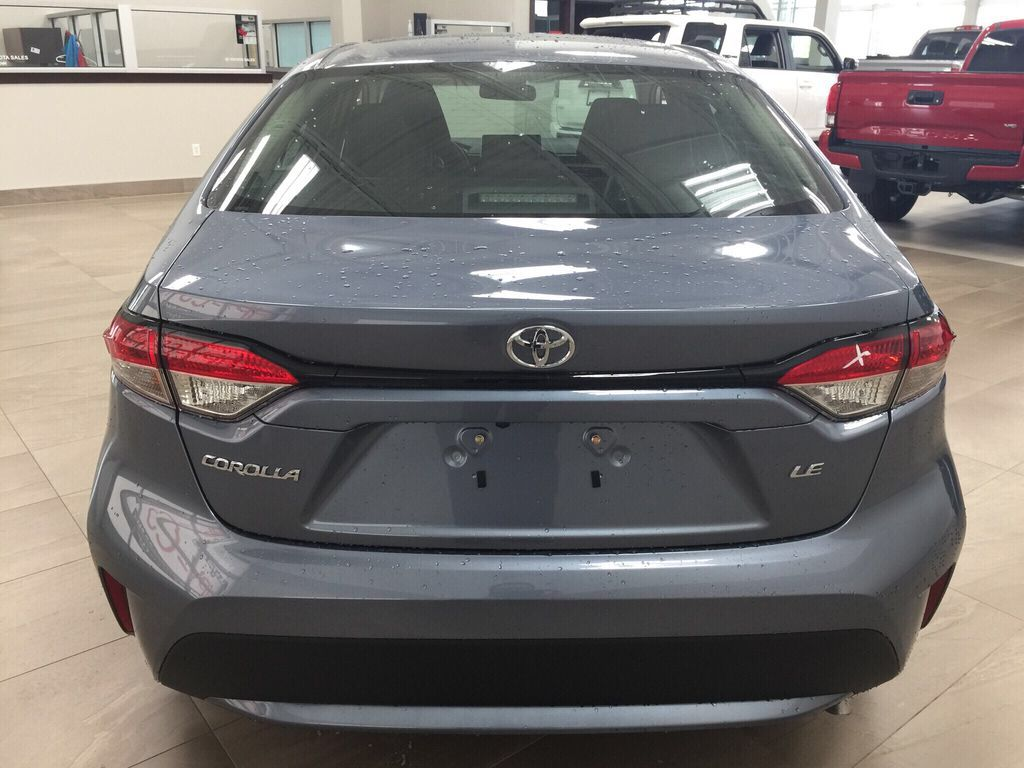Gray[Celestite] 2021 Toyota Corolla LE Upgrade Rear of Vehicle Photo in Sherwood Park AB