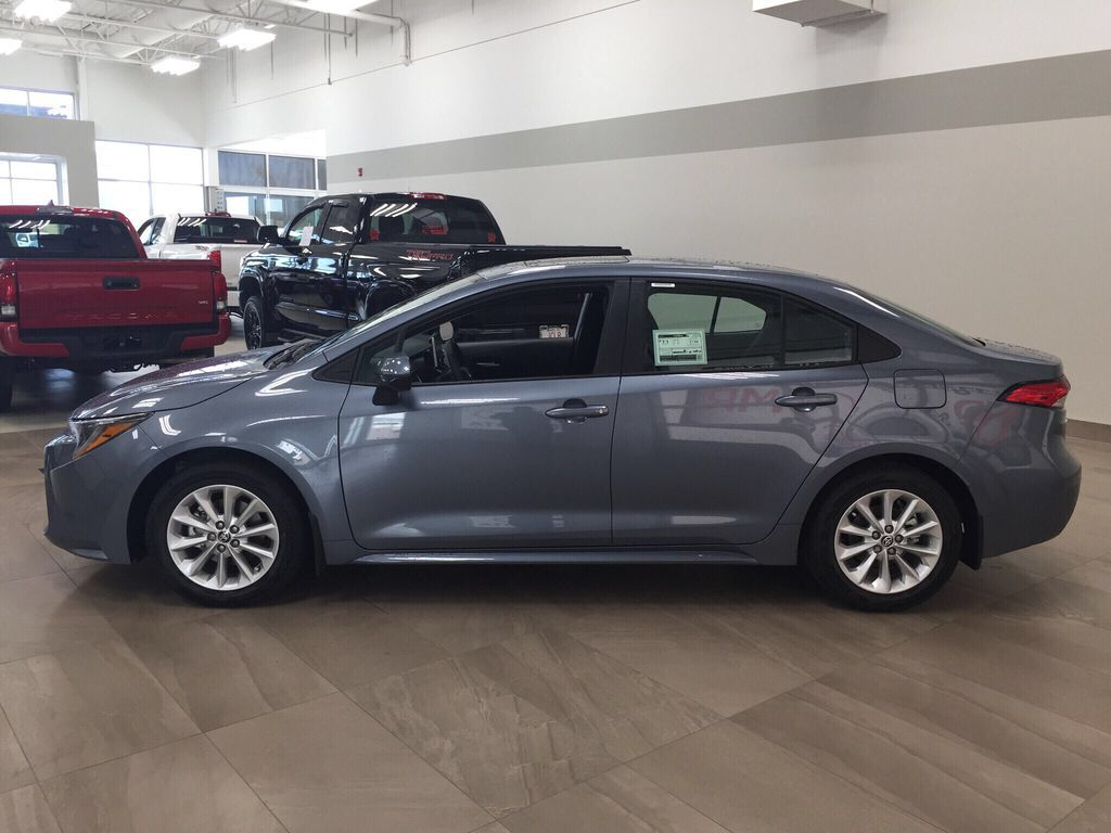 Gray[Celestite] 2021 Toyota Corolla LE Upgrade Left Side Photo in Sherwood Park AB
