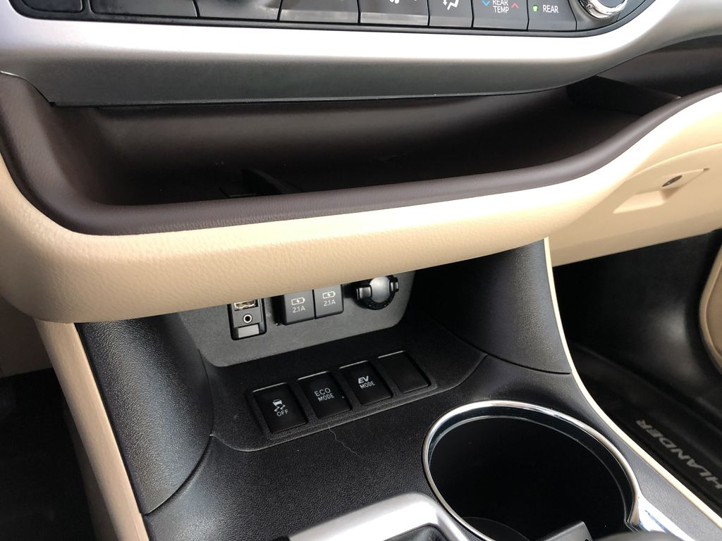 Black 2019 Toyota Highlander Hybrid XLE | Extended Warranty Included Engine Compartment Photo in Edmonton AB
