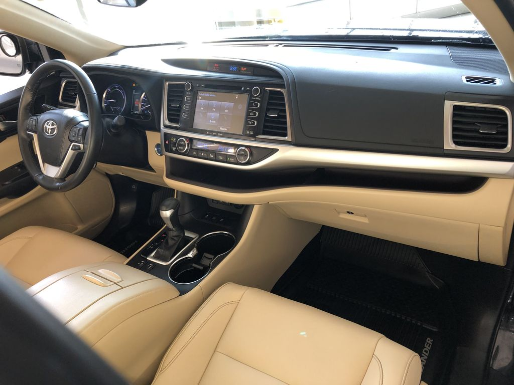 Black 2019 Toyota Highlander Hybrid XLE | Extended Warranty Included Left Front Seat Photo in Edmonton AB
