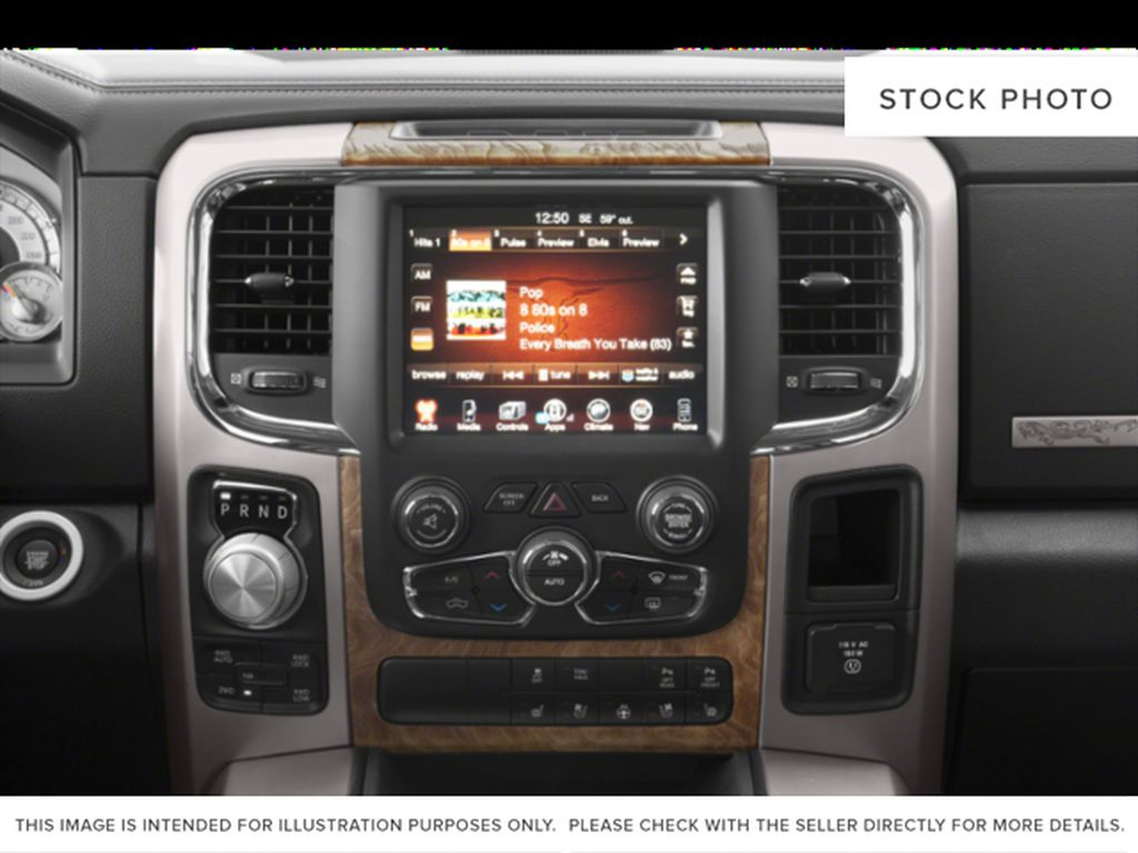 Silver[Bright Silver Metallic] 2018 Ram 1500 Radio Controls Closeup Photo in Fort Macleod AB