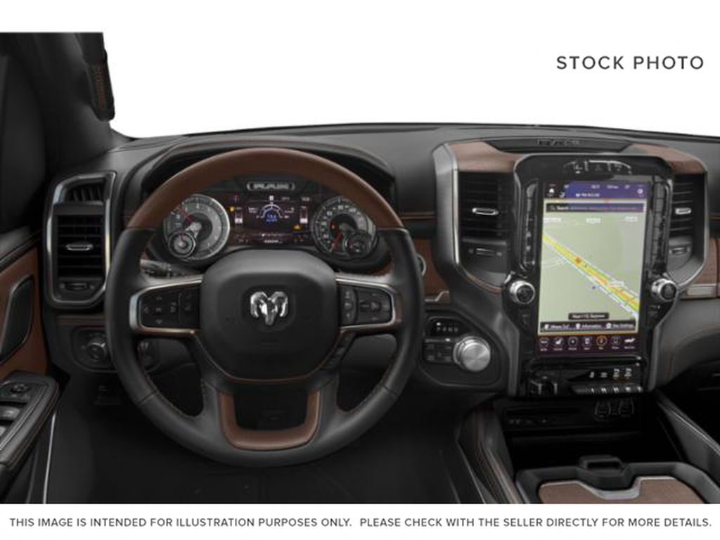 Red[Red Pearl] 2019 Ram 1500 Steering Wheel and Dash Photo in Fort Macleod AB
