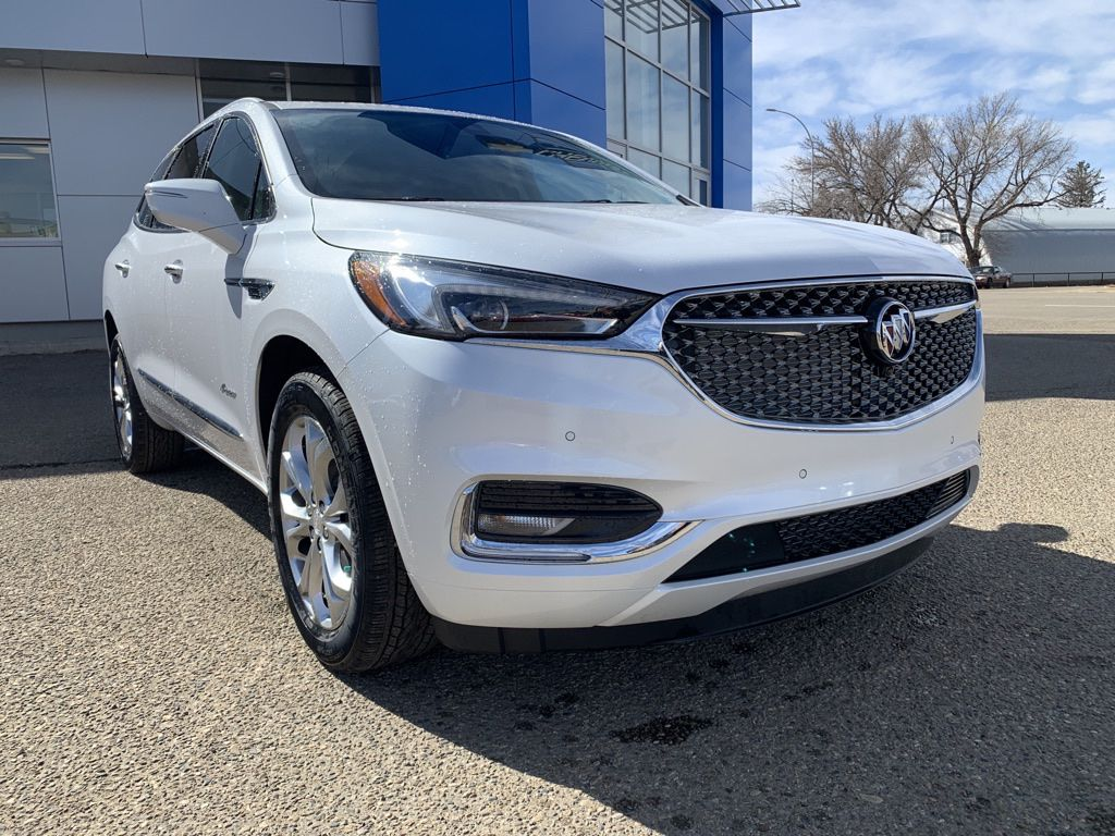White 2021 Buick Enclave Left Front Head Light / Bumper and Grill in Brooks AB
