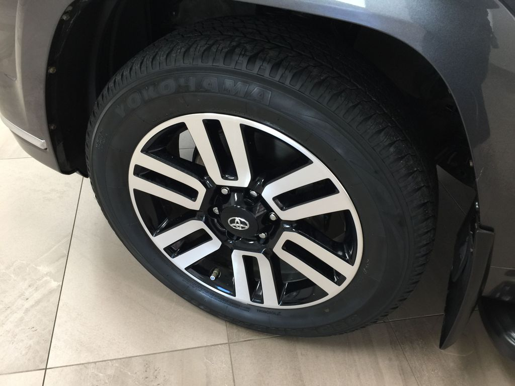 Gray[Magnetic Grey Metallic] 2018 Toyota 4Runner LIMITED Left Front Rim and Tire Photo in Sherwood Park AB