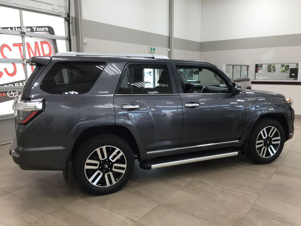 Gray[Magnetic Grey Metallic] 2018 Toyota 4Runner LIMITED Right Side Photo in Sherwood Park AB