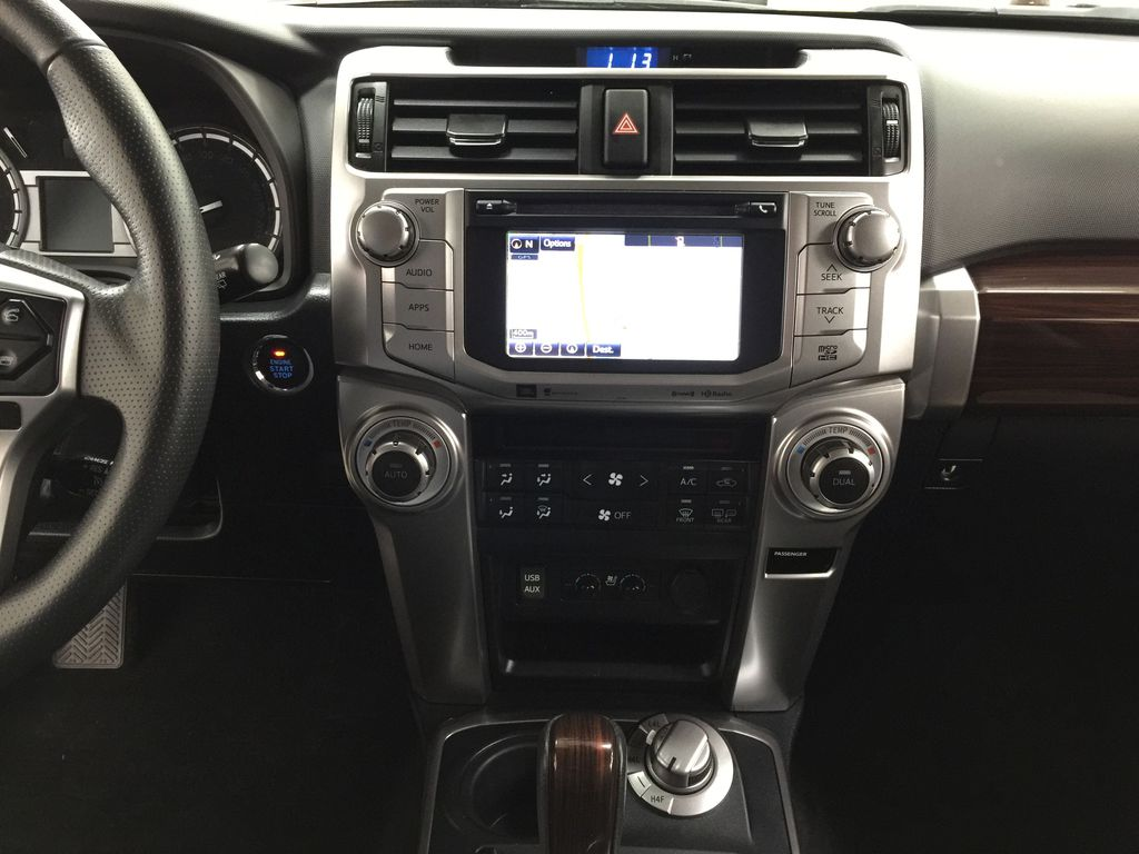 Gray[Magnetic Grey Metallic] 2018 Toyota 4Runner LIMITED Central Dash Options Photo in Sherwood Park AB