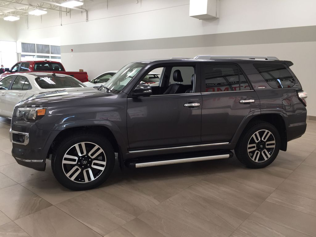 Gray[Magnetic Grey Metallic] 2018 Toyota 4Runner LIMITED Left Side Photo in Sherwood Park AB