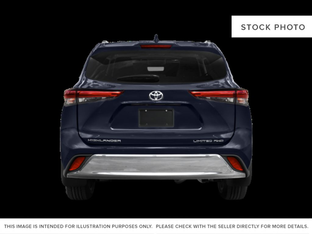 Gray[Magnetic Grey Metallic] 2021 Toyota Highlander Rear of Vehicle Photo in Beverly Hills NU
