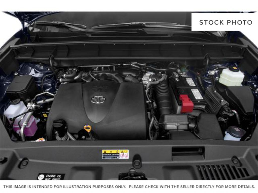 Gray[Magnetic Grey Metallic] 2021 Toyota Highlander Engine Compartment Photo in Beverly Hills NU