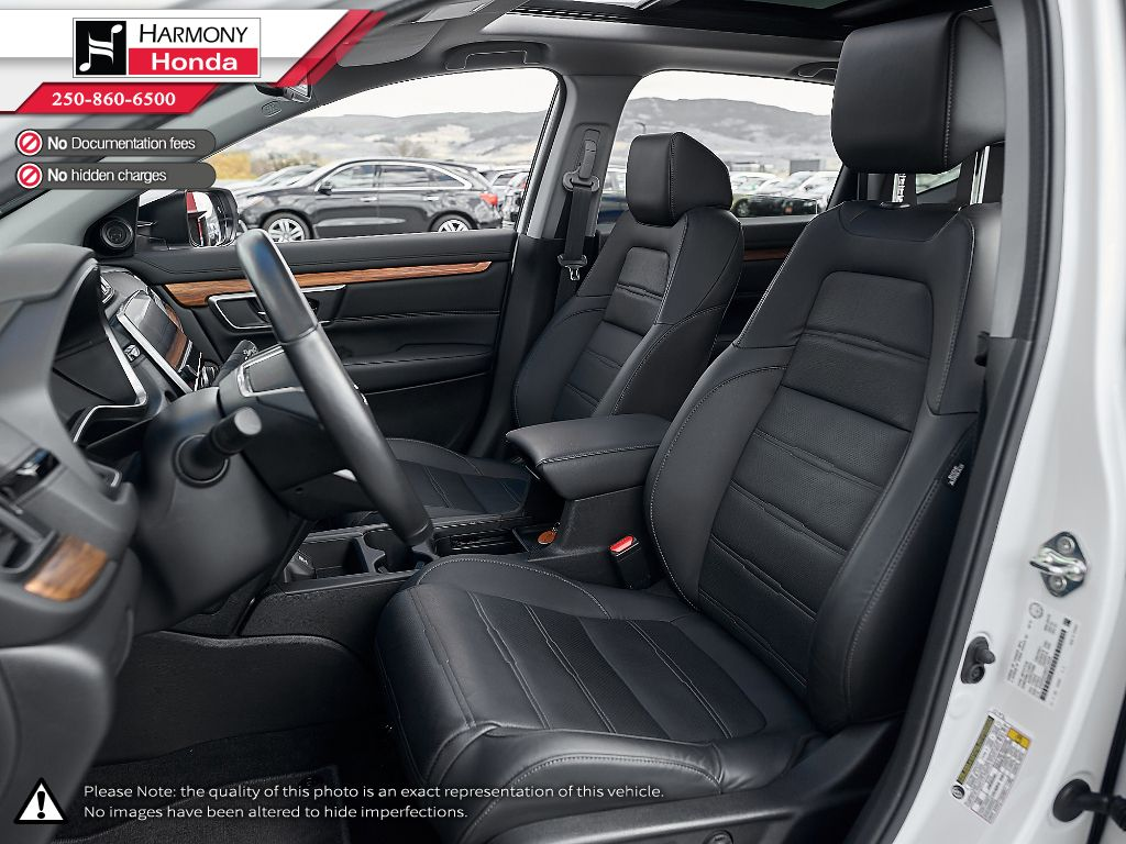 White - Platinum White Pearl 2019 Honda CR-V Third Row Seat or Additional  Photo in Kelowna BC