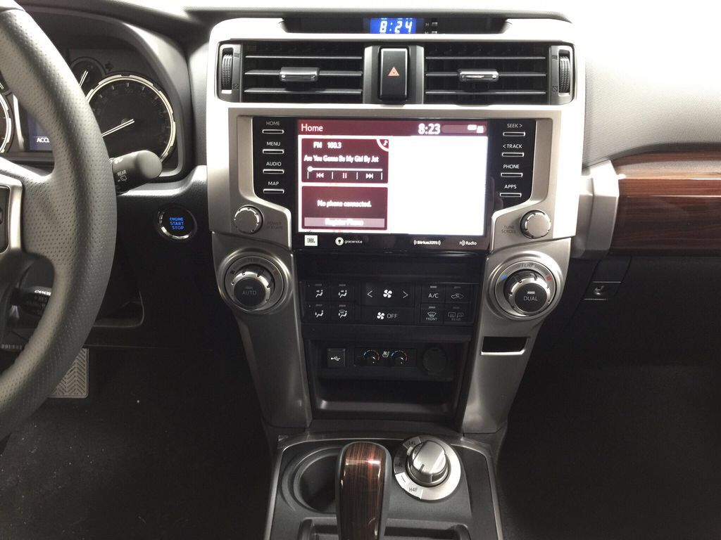 Black[Midnight Black Metallic] 2021 Toyota 4Runner Limited Central Dash Options Photo in Sherwood Park AB