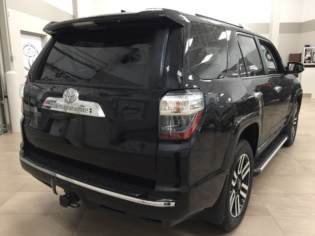 Black[Midnight Black Metallic] 2021 Toyota 4Runner Limited Right Rear Corner Photo in Sherwood Park AB