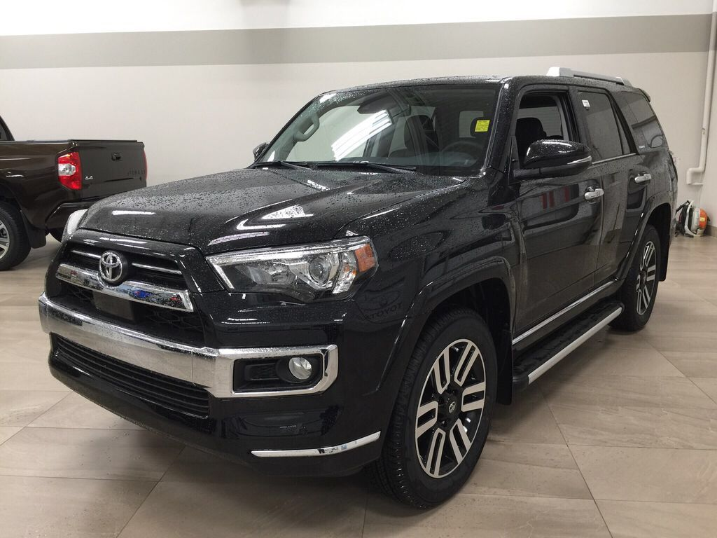 Black[Midnight Black Metallic] 2021 Toyota 4Runner Limited Left Front Corner Photo in Sherwood Park AB
