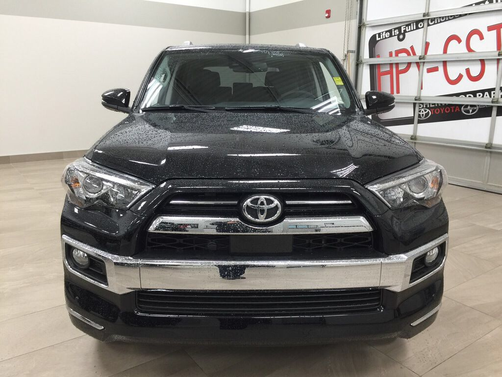 Black[Midnight Black Metallic] 2021 Toyota 4Runner Limited Front Vehicle Photo in Sherwood Park AB