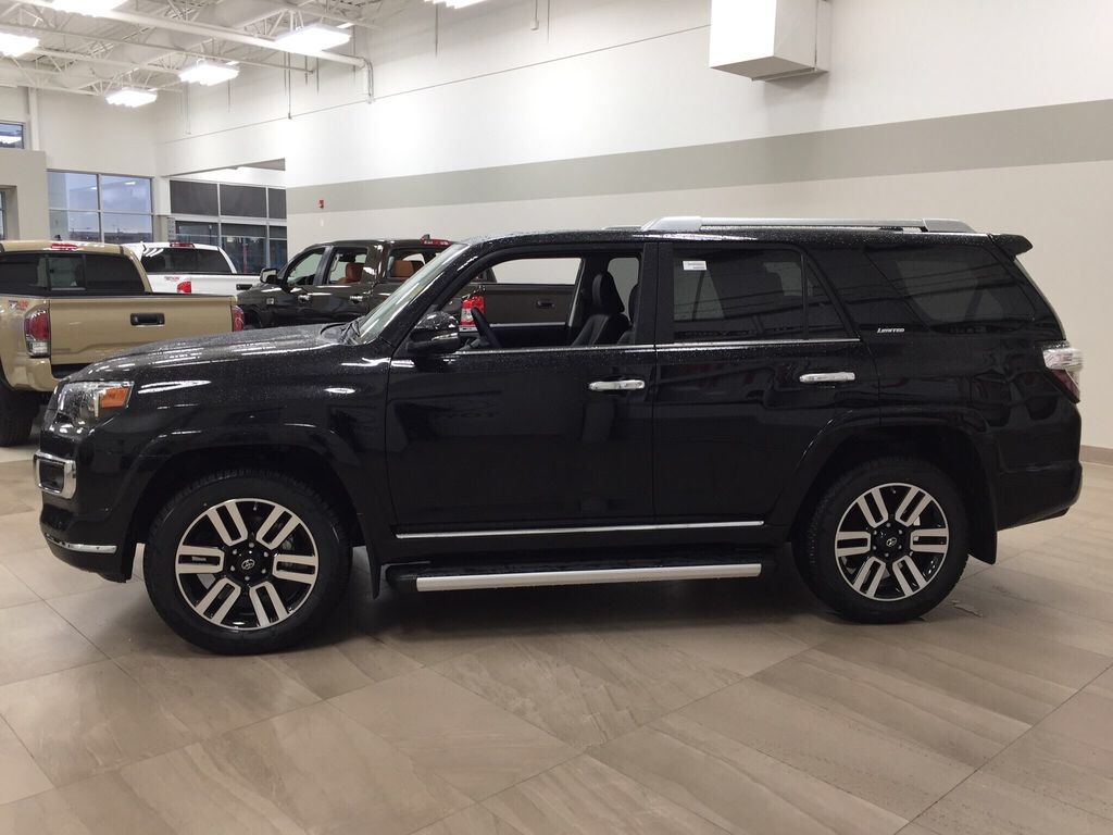 Black[Midnight Black Metallic] 2021 Toyota 4Runner Limited Left Side Photo in Sherwood Park AB