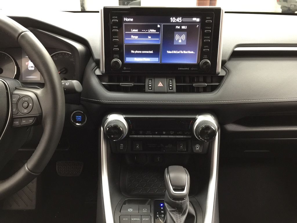 Red[Ruby Flare Pearl] 2021 Toyota RAV4 XLE Premium Central Dash Options Photo in Sherwood Park AB