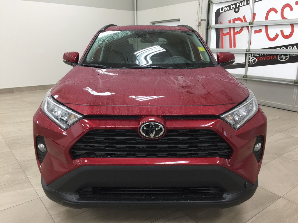 Red[Ruby Flare Pearl] 2021 Toyota RAV4 XLE Premium Front Vehicle Photo in Sherwood Park AB