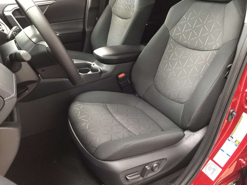 Red[Ruby Flare Pearl] 2021 Toyota RAV4 XLE AWD Left Front Interior Photo in Sherwood Park AB