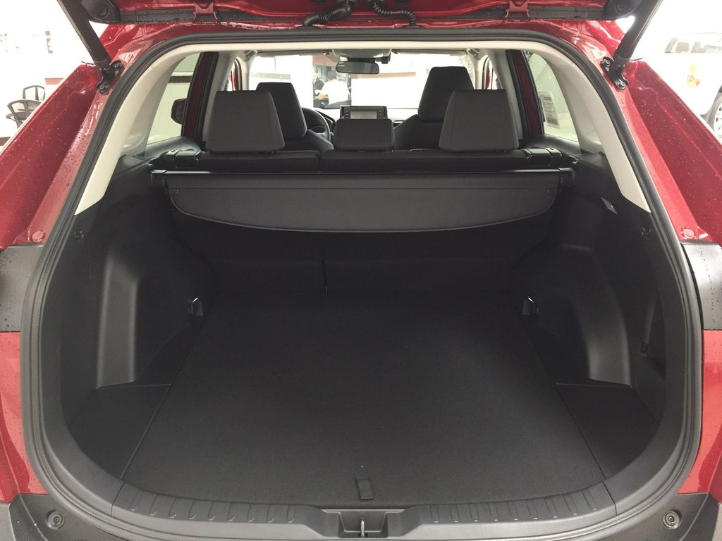 Red[Ruby Flare Pearl] 2021 Toyota RAV4 XLE AWD Cargo Area/Rear Seats Photo in Sherwood Park AB