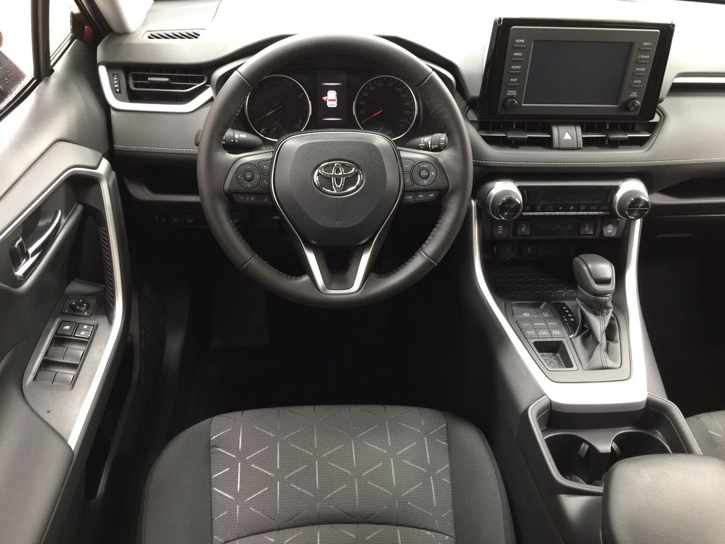 Red[Ruby Flare Pearl] 2021 Toyota RAV4 XLE AWD Left Front Seat Photo in Sherwood Park AB