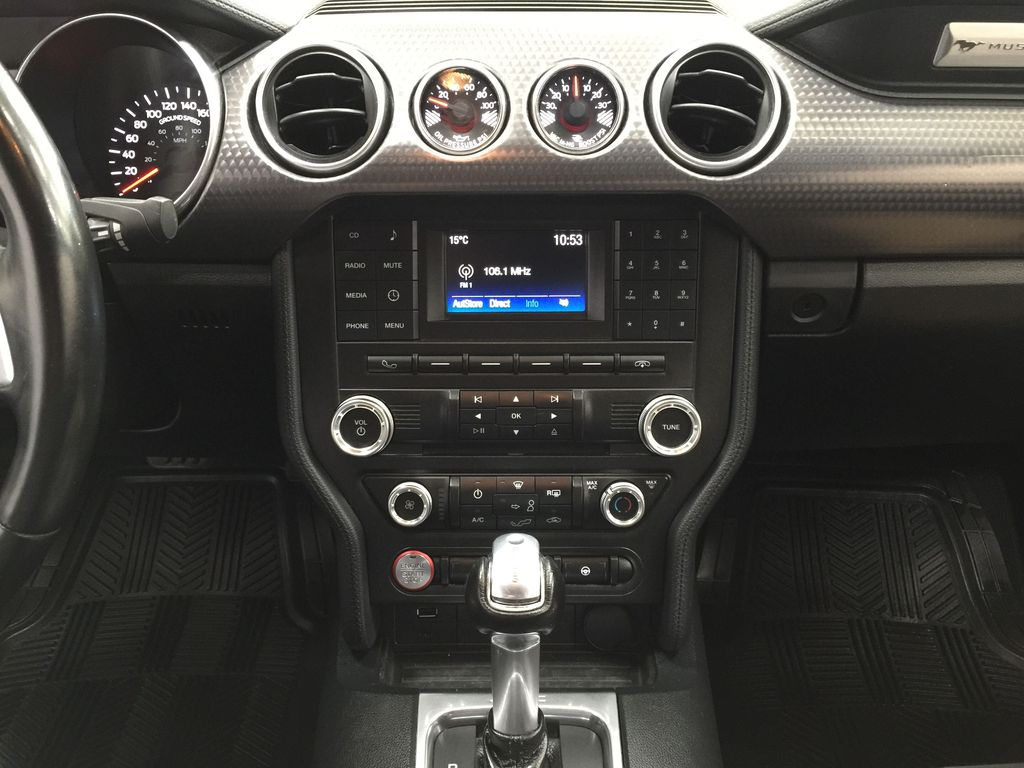 Blue[Kona Blue] 2018 Ford Mustang Ecoboost Central Dash Options Photo in Sherwood Park AB