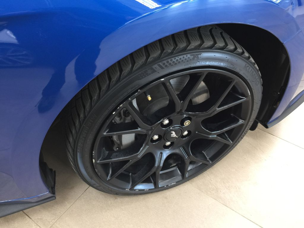 Blue[Kona Blue] 2018 Ford Mustang Ecoboost Right Front Rim and Tire Photo in Sherwood Park AB