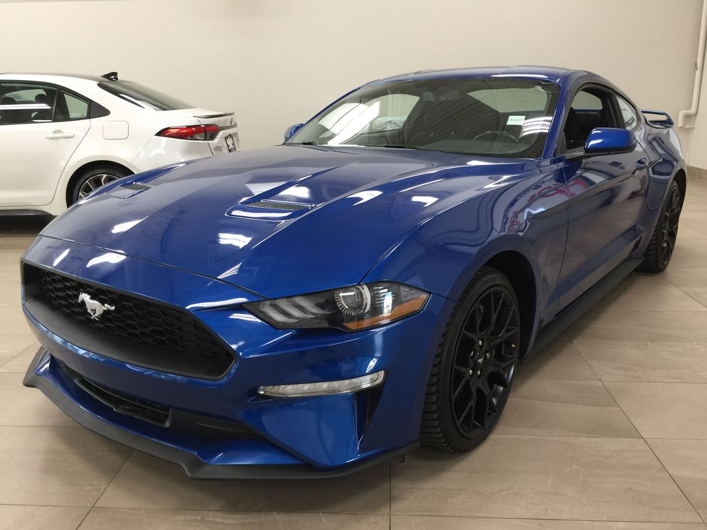 Blue[Kona Blue] 2018 Ford Mustang Ecoboost Left Front Corner Photo in Sherwood Park AB