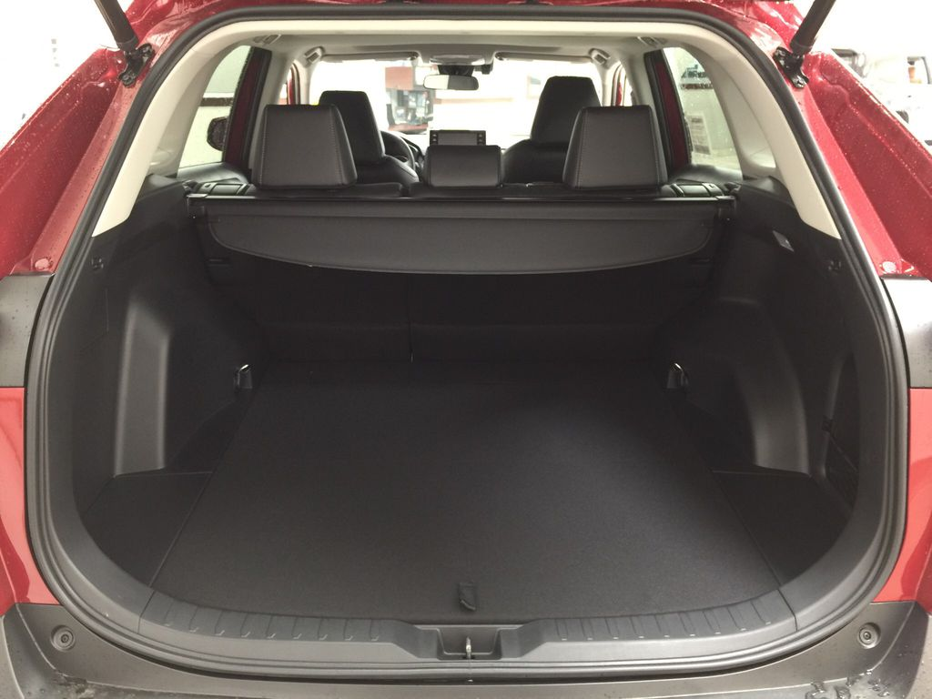 Red[Ruby Flare Pearl] 2021 Toyota RAV4 XLE Premium Cargo Area/Rear Seats Photo in Sherwood Park AB