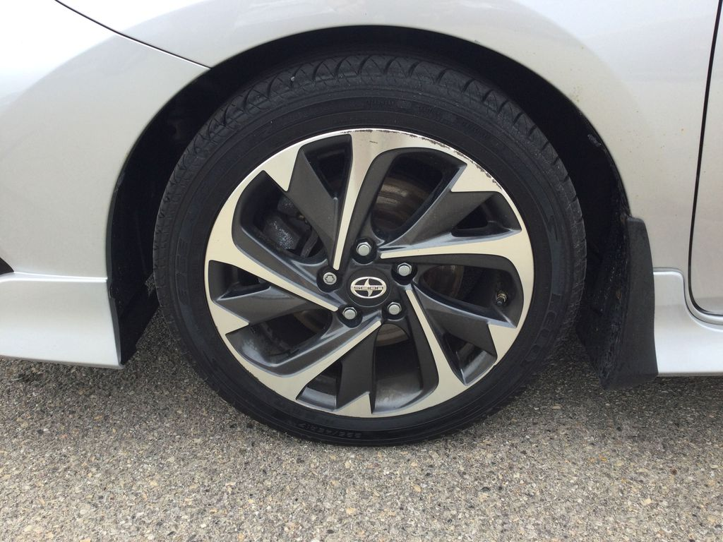 Silver[Classic Silver Metallic] 2016 Scion iM Left Front Rim and Tire Photo in Brockville ON