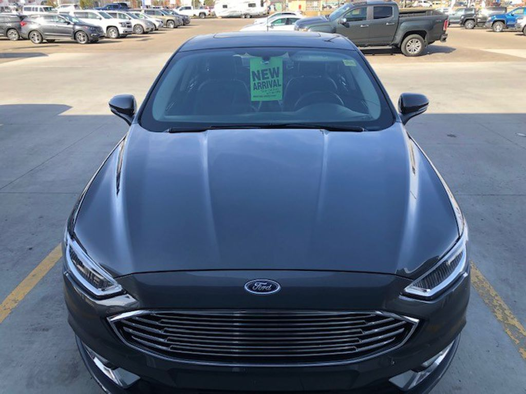 Grey 2017 Ford Fusion Left Front Corner Photo in Lethbridge AB